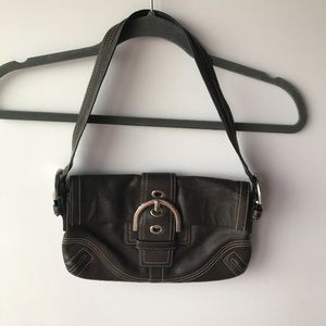 Coach | Brown Button Closure Shoulder Bag